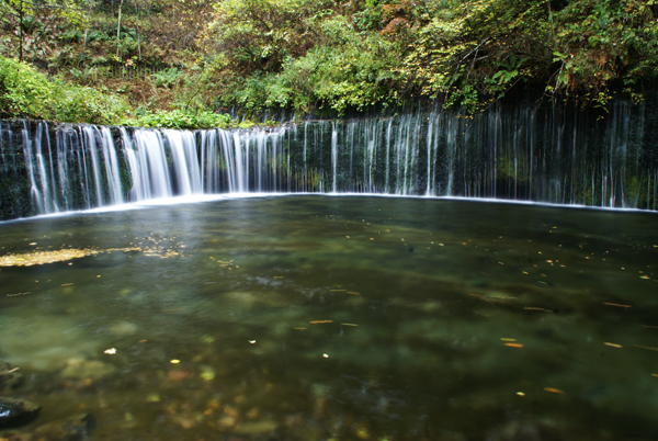 長野県軽井沢「白糸の滝」