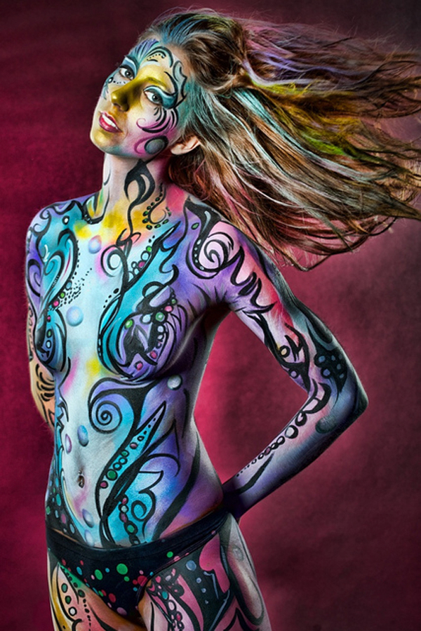 Sexy Body Painted girls