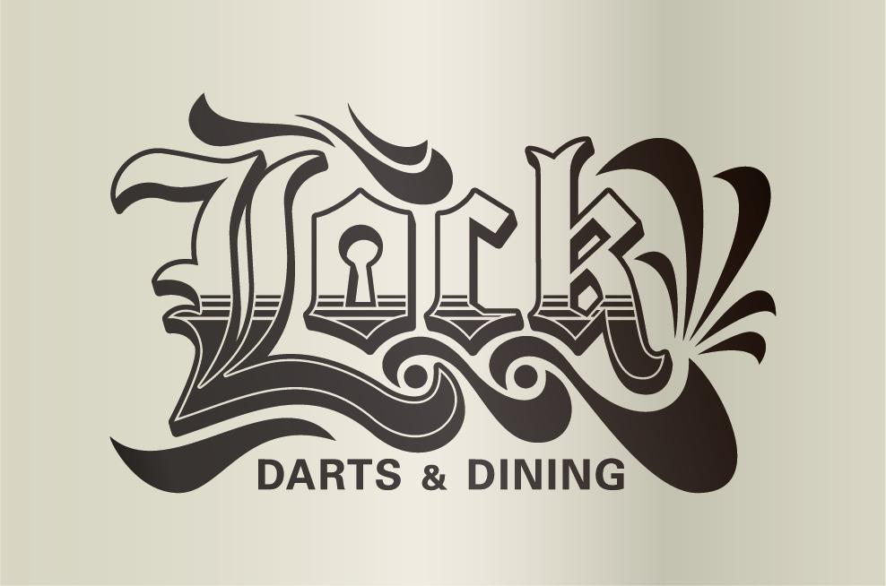 松本駅前DARTS&DINING『LOCK』様 ロゴ、看板制作